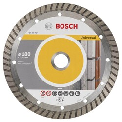 Bosch Standard Seri Genel Yapı Malzemeleri İçin Turbo Segmanlı 9+1 Elmas Kesme Diski Set 180 mm - Thumbnail