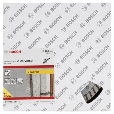 Bosch Standard Seri Genel Yapı Malzemeleri İçin Turbo Segmanlı 9+1 Elmas Kesme Diski Set 180 mm BOSCH