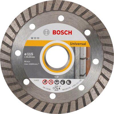 Bosch Standard Seri Genel Yapı Malzemeleri İçin Turbo Segmanlı Elmas Kesme Diski 115 mm