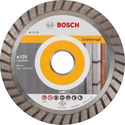 Bosch Standard Seri Genel Yapı Malzemeleri İçin Turbo Segmanlı Elmas Kesme Diski 125 mm - Thumbnail