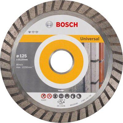 Bosch Standard Seri Genel Yapı Malzemeleri İçin Turbo Segmanlı Elmas Kesme Diski 125 mm