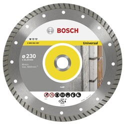 Bosch Standard Seri Genel Yapı Malzemeleri İçin Turbo Segmanlı Elmas Kesme Diski 230 mm - Thumbnail
