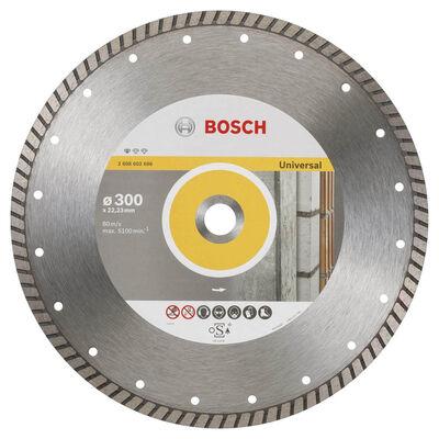 Bosch Standard Seri Genel Yapı Malzemeleri İçin Turbo Segmanlı Elmas Kesme Diski 300 mm