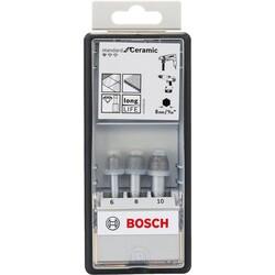 Bosch Standard Seri, Matkap İçin Seramik Kuru Elmas Delici Seti 3 Parça 6/8/10*33 mm - Thumbnail