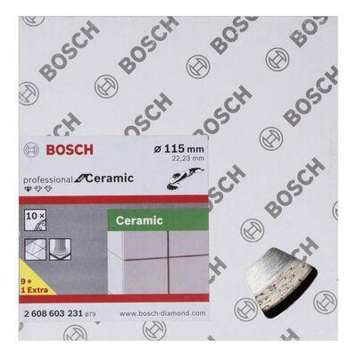 Bosch Standard Seri Seramik İçin, 9+1 Elmas Kesme Diski Set 115 mm BOSCH