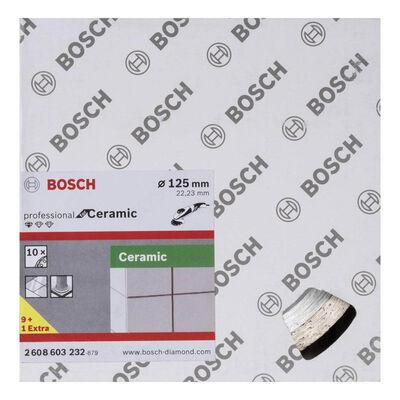 Bosch Standard Seri Seramik İçin, 9+1 Elmas Kesme Diski Set 125mm BOSCH