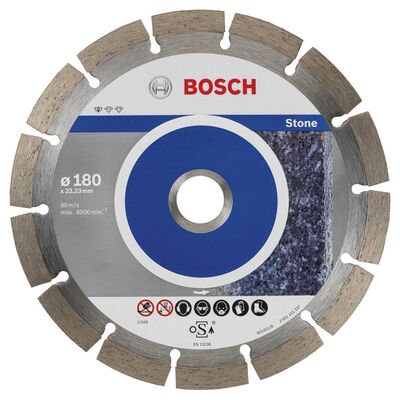 Bosch Standard Seri Taş İçin, 9+1 Elmas Kesme Diski Set 180 mm