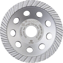 Bosch Standart Seri Universal Turbo Elmas Çanak Disk 115 mm - Thumbnail
