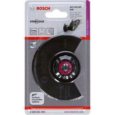 Bosch Starlock - ACZ 100 SWB - BIM Oluklu Segman Testere Bıçağı 1'li BOSCH