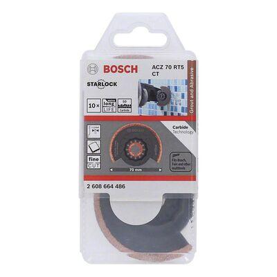 Bosch Starlock - ACZ 70 RT5 - Karpit RIFF Zımpara Uçlu Dar Kesim Segman Testere Bıçağı 50 Kum Kalınlığı 10'lu BOSCH