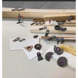 Bosch Starlock - ACZ 70 RT5 - Karpit RIFF Zımpara Uçlu Dar Kesim Segman Testere Bıçağı 50 Kum Kalınlığı 10'lu - Thumbnail