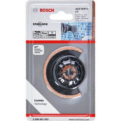 Bosch Starlock - ACZ 70 RT5 - Karpit RIFF Zımpara Uçlu Dar Kesim Segman Testere Bıçağı 50 Kum Kalınlığı 1'li BOSCH