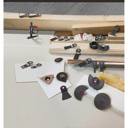 Bosch Starlock - ACZ 70 RT5 - Karpit RIFF Zımpara Uçlu Dar Kesim Segman Testere Bıçağı 50 Kum Kalınlığı 1'li - Thumbnail