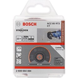 Bosch Starlock - ACZ 85 RT3 - Karpit RIFF Zımpara Uçlu Segman Testere Bıçağı 30 Kum Kalınlığı 10'lu - Thumbnail