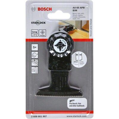 Bosch Starlock - AII 65 APB - BIM Ahşap ve Metal İçin Daldırmalı Testere Bıçağı 5'li BOSCH