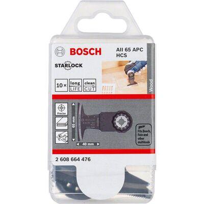 Bosch Starlock - AII 65 APC - HCS Ahşap İçin Daldırmalı Testere Bıçağı 10'lu BOSCH