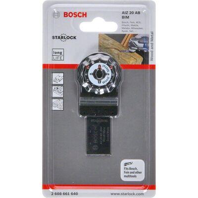 Bosch Starlock - AIZ 20 AB - BIM Ahşap ve Metal İçin Daldırmalı Testere Bıçağı 1'li BOSCH