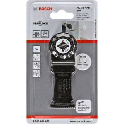 Bosch Starlock - AIZ 32 APB - BIM Ahşap ve Metal İçin Daldırmalı Testere Bıçağı 5'li BOSCH