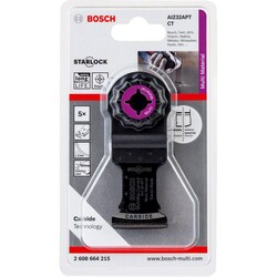 Bosch Starlock - AIZ 32 APT - Karpit Çoklu Malzeme İçin Daldırmalı Testere Bıçağı 5'li - Thumbnail
