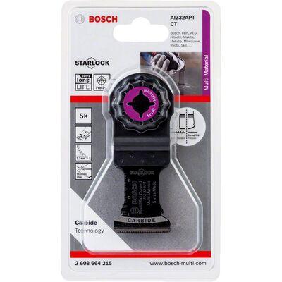 Bosch Starlock - AIZ 32 APT - Karpit Çoklu Malzeme İçin Daldırmalı Testere Bıçağı 5'li BOSCH