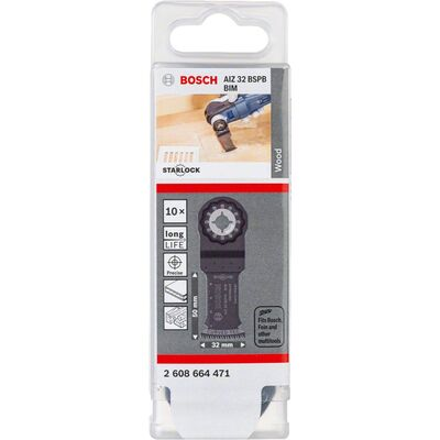 Bosch Starlock - AIZ 32 BSPB - BIM Sert Ahşap İçin Daldırmalı Testere Bıçağı 10'lu BOSCH