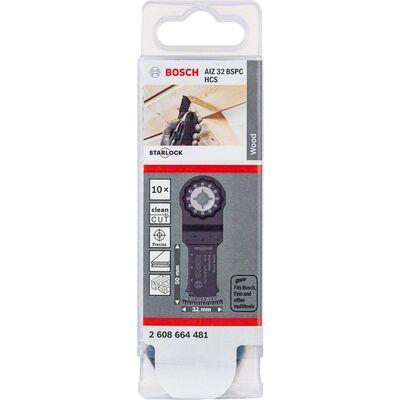 Bosch Starlock - AIZ 32 BSPC - HCS Sert Ahşap İçin Daldırmalı Testere Bıçağı 10'lu BOSCH