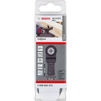 Bosch Starlock - AIZ 32 EPC - HCS Ahşap İçin Daldırmalı Testere Bıçağı 10'lu BOSCH