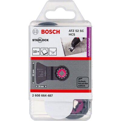Bosch Starlock - ATZ 52 SC - HCS Harç ve Beton Artıkları İçin Sert Raspa Bıçağı 10'lu BOSCH