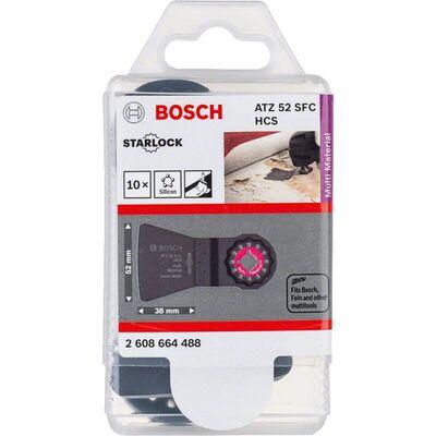 Bosch Starlock - ATZ 52 SFC - HCS Yumuşak Silikon ve Boya Artıkları İçin Esnek Raspa Bıçağı 10'lu BOSCH
