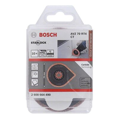 Bosch Starlock - AVZ 70 RT4 - Karpit RIFF Fayans Arası Derz Harcı Çıkarıcı Testere Bıçağı 10'lu BOSCH