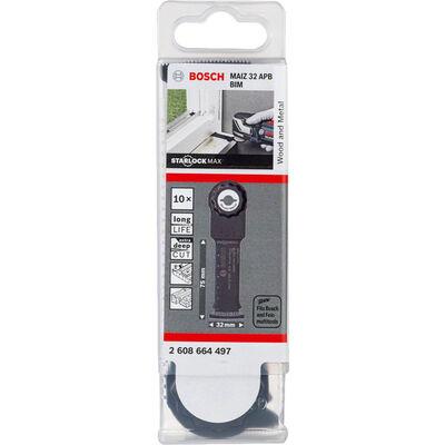 Bosch Starlock Max - MAIZ 32 APB - BIM Ahşap ve Metal İçin Daldırmalı Testere Bıçağı 10'lu BOSCH