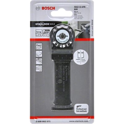 Bosch Starlock Max - MAIZ 32 APB - BIM Ahşap ve Metal İçin Daldırmalı Testere Bıçağı 1'li BOSCH
