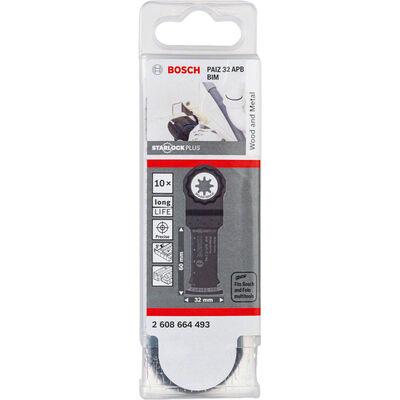 Bosch Starlock Plus - PAIZ 32 APB - BIM Ahşap ve Metal İçin Daldırmalı Testere Bıçağı 10'lu BOSCH