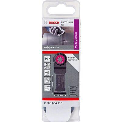 Bosch Starlock Plus - PAIZ 32 APT - Karpit Çoklu Malzeme İçin Daldırmalı Testere Bıçağı 10'lu BOSCH