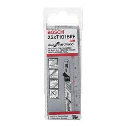 Bosch Temiz Kesim Serisi Sert Ahşap İçin T 101 BRF Dekupaj Testeresi Bıçağı - 25'Li Paket - Thumbnail
