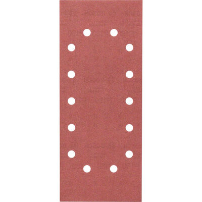 Bosch Titreşimli Zımpara Kağıdı 10'lu, 115 x 280 mm 180 Kum 14 Delik