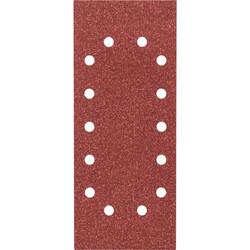 Bosch Titreşimli Zımpara Kağıdı 10'lu, 115 x 280 mm 60 Kum 14 Delik - Thumbnail