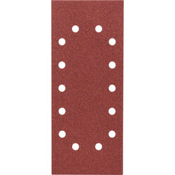Bosch Titreşimli Zımpara Kağıdı 10'lu, 115 x 280 mm 80 Kum 14 Delik - Thumbnail