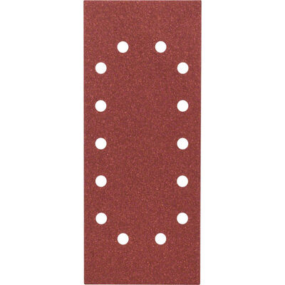 Bosch Titreşimli Zımpara Kağıdı 10'lu, 115 x 280 mm 80 Kum 14 Delik