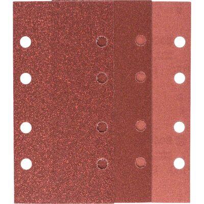 Bosch Titreşimli Zımpara Kağıdı 10'lu Set, 93 x 185 mm 60/120/180 Kum 8 Delik