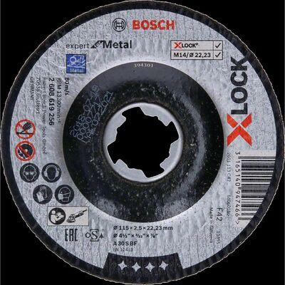 Bosch X-LOCK - 115*2,5 mm Expert Serisi Bombeli Metal Kesme Diski (Taş)