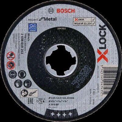 Bosch X-LOCK - 115*2,5 mm Expert Serisi Düz Metal Kesme Diski (Taş)