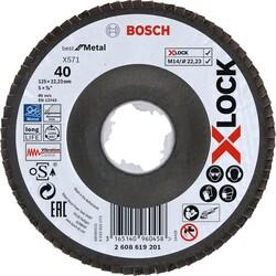 Bosch X-LOCK - 125 mm 40 Kum Best Serisi Metal Flap Disk - Thumbnail