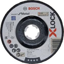 Bosch X-LOCK - 125*6,0 mm Expert Serisi Bombeli Metal Taşlama Diski (Taş) - Thumbnail