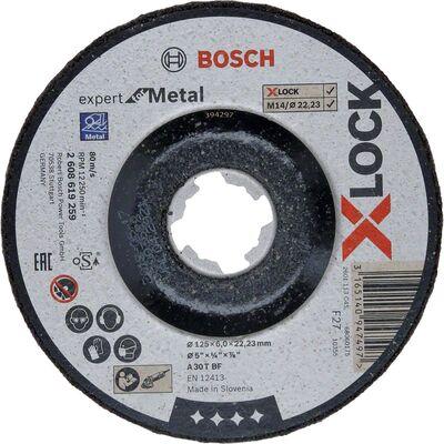 Bosch X-LOCK - 125*6,0 mm Expert Serisi Bombeli Metal Taşlama Diski (Taş)