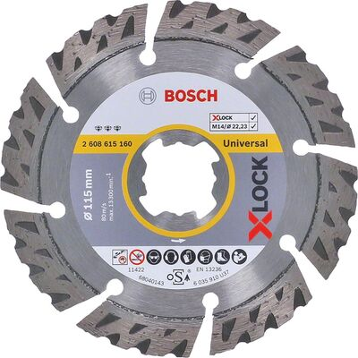 Bosch X-LOCK - Best Serisi Genel Yapı Malzemeleri ve Metal İçin Elmas Kesme Diski 115 mm