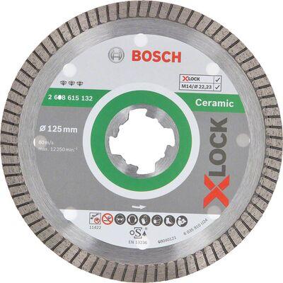 Bosch X-LOCK - Best Serisi Seramik İçin, Extra Temiz Kesim Turbo Segman Elmas Kesme Diski 125 mm