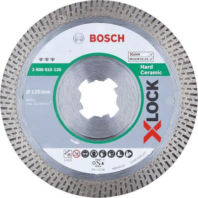 Bosch X-LOCK - Best Serisi Sert Seramikler İçin Elmas Kesme Diski 125 mm