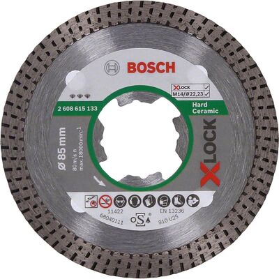 Bosch X-LOCK - Best Serisi Sert Seramikler İçin Elmas Kesme Diski 85 mm
