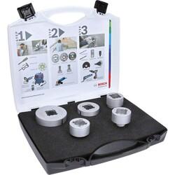 Bosch X-LOCK - Best Serisi, Taşlama İçin Seramik Kuru Elmas Delici ve Elmas Parmak Freze Uçlu 5 Parça Set - Thumbnail